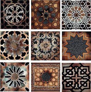 details about old world kitchen back splash ceramic decorative accent tile set of 9 tiles