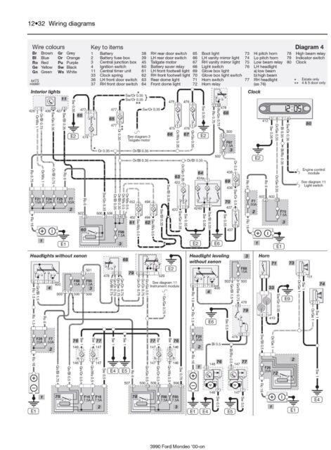 ford mondeo mk2 wiring diagram 2003 expedition vacuum great installation of mk3 2000 haynes workshop manual 3990 ebay rh com