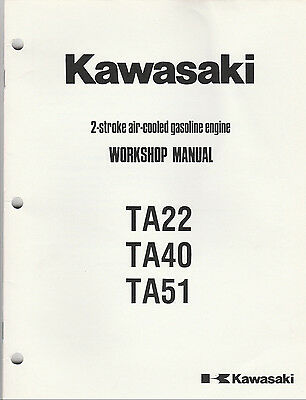 KAWASAKI SHOP MANUAL 2 STROKE ENGINE MODEL #'S TD40 TD48