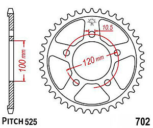Hendler Rear Sprocket 41 Teeth (702-41) Aprilia SL 1000