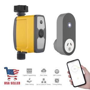 details about smart hose faucet timer remote control compatible alexa google home app wifi hub