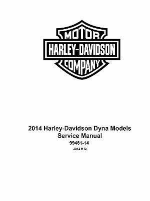2014 Harley Davidson Dyna Models Factory Service Shop