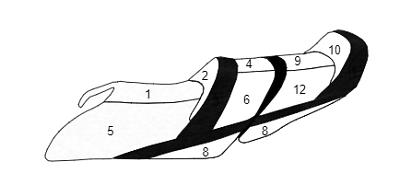Premium Seat Cover Yamaha VX Cruiser 2015-18 VX Limited