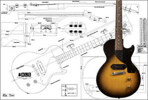 les paul junior wiring diagram tree template free 30 images s l300 gibson electric guitar plan ebay