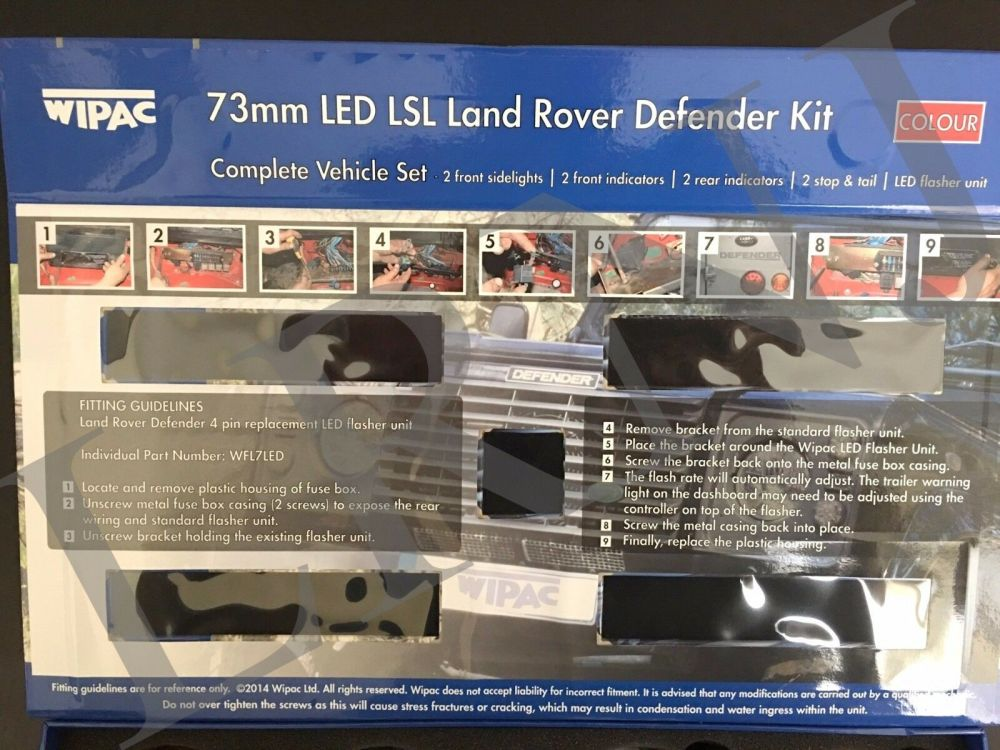 medium resolution of land rover defender britpart wipac led upgrade lamps kit 73 mm led style da1192 for sale online ebay