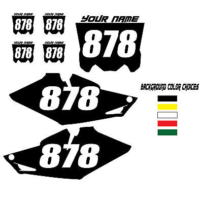 2010-2013 HONDA CRF 250R CUSTOM NUMBER PLATE BACKGROUND