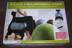 exercise ball chair for back pain chairs with ottomans bedrooms new gaiam balance relief office ergonomic desk image is loading