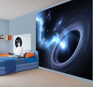 cool black hole worm hole space universe wallpaper wall mural