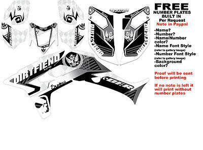 DFR ICON GRAPHIC KIT WHITE SIDES/FENDERS 04-05 HONDA
