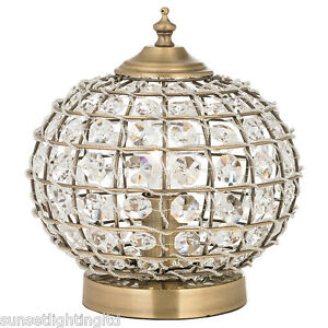 Moroccan Style Tanaro Antique Brass & Crystal Beading