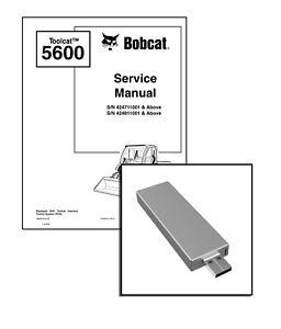 Bobcat Toolcat 5600 Utility Work Machine Workshop Service