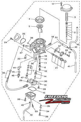 2007-2012 YAMAHA BIG BEAR 400 ATV CARBURETOR CARB 4S1