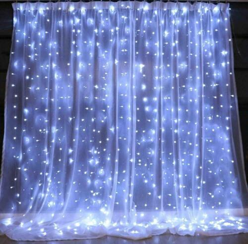 8 mode 300 led curtain fairy lights usb string hanging wall lights wedding party string fairy lights home garden worldenergy ae