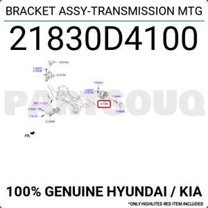 21830D4100 Genuine Hyundai / KIA BRACKET ASSY-TRANSMISSION