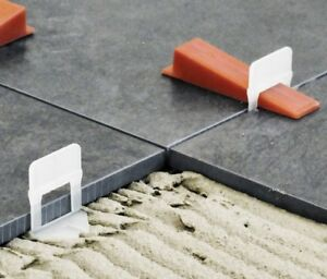 details about 1000 2mm tile levelling clips 200 wedges for raimondi levelling system