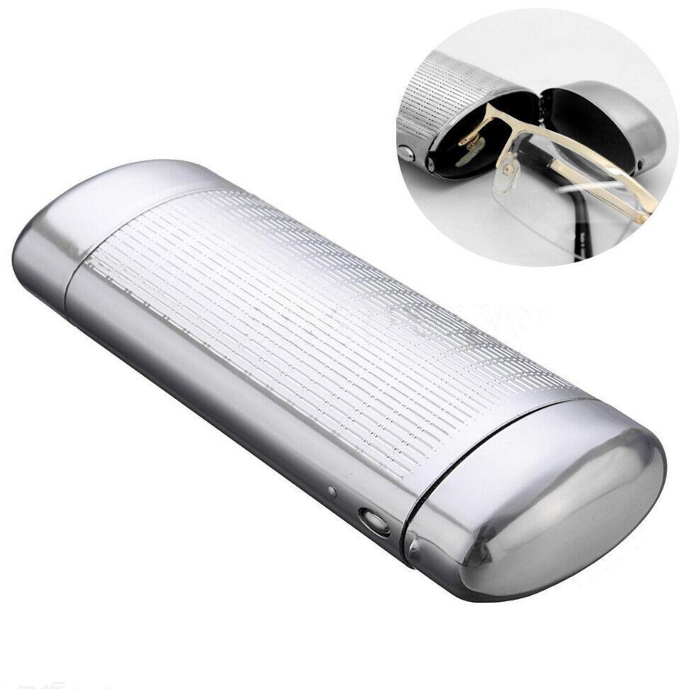Hartes Metall Brillenetui Speicher Aluminium Sonnenbrille Fall Kasten #DE06