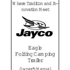 2001 Jayco Eagle Wiring Diagram 240 Volt Single Phase Motor Fold Down Pop Up Tent Trailer Owners Manual Ebay Image Is Loading