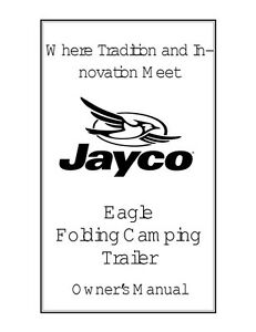 2001 jayco eagle wiring diagram direct tv fold down pop up tent trailer owners manual ebay image is loading