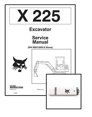 Bobcat X225 Excavator Workshop Repair Service Manual