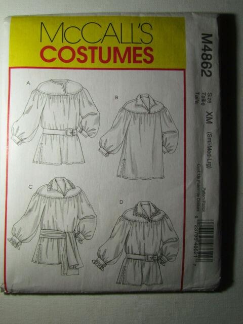 Renaissance Shirt Pattern : renaissance, shirt, pattern, Uncut, McCalls, Costume, Pattern, Adult, Pullover, Shirt, Online