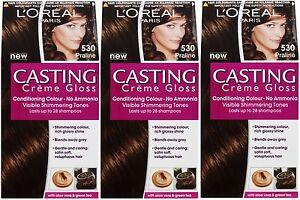 3 x loreal paris casting creme gloss 530 praline no ammonia hair dye ebay