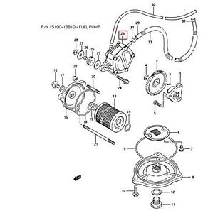 SUZUKI OEM FUEL PUMP ASSEMBLY 87-98 LT-F250 KING QUAD
