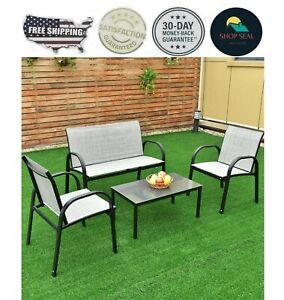 details about juego de mesa muebles para patio terraza mesa de te con sillas 4 piezas calidad