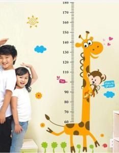 Removable height chart measure wall sticker decal for kids baby room giraffe ky also rh ebay