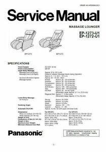 Panasonic EP1273 EP1272 Massage Lounge Chair Service