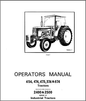 International IH 454 474 475 574 674 2400 2500 Tractor
