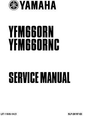 New Yamaha YFM 660 RN RNC Raptor Repair Service Manual