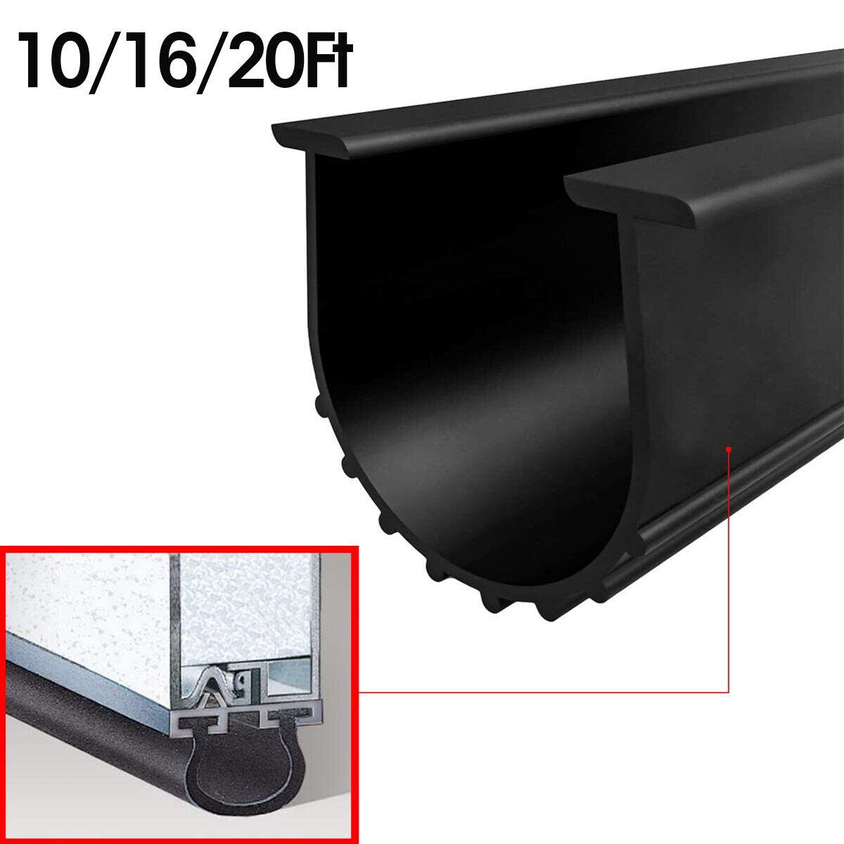 7m Garage Door Bottom Weather Stripping Rubber Seal Strip Replacement Door Black For Sale Online Ebay