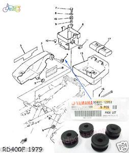 Yamaha XT600 Side Cover Grommet x4 NOS RZ125 RD125YPVS