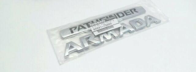 2004-2005 Nissan Armada nameplate PATHFINDER ARMADA emblem