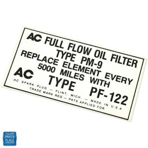 1950-1959 Oldsmobile 98 Oil Filter Canister Decal DO0075