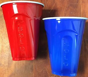 Solo cup 18oz 20ct Red or Blue plastic square bottom NEW