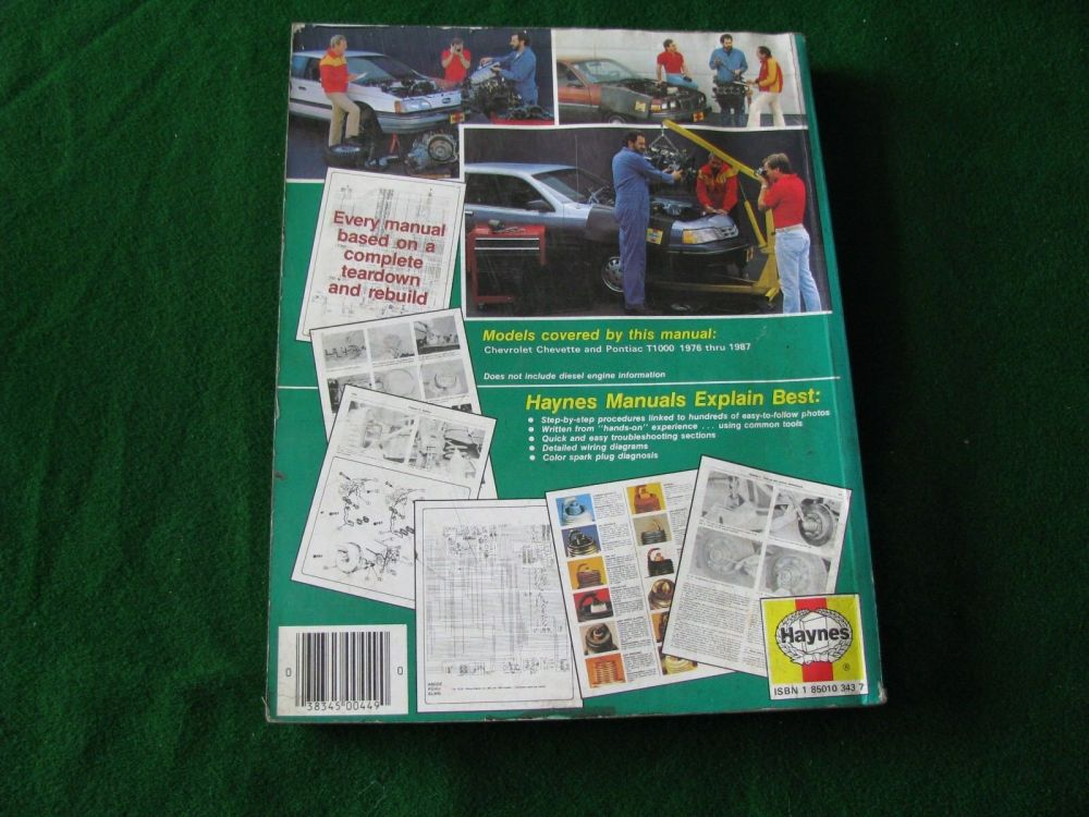 medium resolution of haynes chevrolet chevette pontiac t1000 owners workshop manual 1976 to 1987 ebay