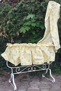 details sur ancien berceau bercelonnette lit enfant bebe poupee fer forge