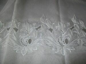 details sur superbe coupon voilage dentelle rideau jh chambost fils tarare ancien