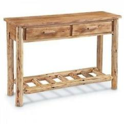 Lodge Living Room Furniture Modern Design 2016 Castlecreek Pine Log Wood Sofa Table Image Is Loading