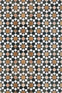 details sur coureur tapis pvc cuisine bain impression numerique mosaique noir blanc vinyle