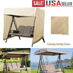 details about sunshade cover outdoor garden patio swing canopy seat top cover replacement us