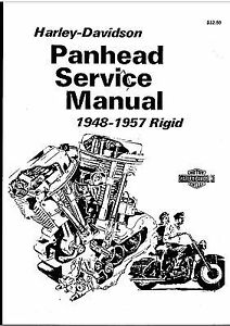 HARLEY-DAVIDSON PAN HEAD SERVICE MANUAL 1948-1957 RIGID