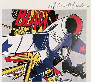 ROY LICHTENSTEIN * BLAM * CHAOTIC COMIC HAND SIGNED PRINT W/ C.O.A.