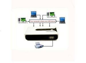 Linxcel PW-241A USB 2.0 4 To 1 Manual Sharing Switch PW