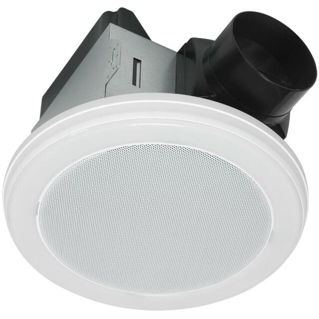 Home Netwerks White Bluetooth Speaker Bathroom Exhaust Fan Led Light 7130 08 Bt For Sale Online Ebay