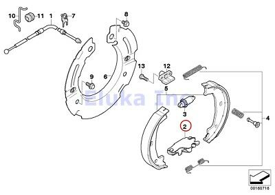 2 x BMW Genuine Brake Service Parking Brake Actuator