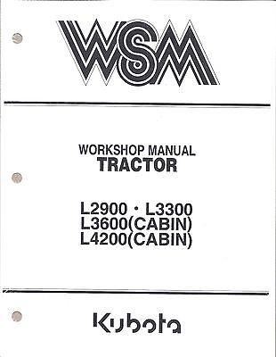Kubota L2900, L3300, L3600, L4200 Workshop Service Repair