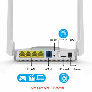Wireless WiFi Router AT&T T-Mobile Verizon 1200Mbps WiFi Hotspot 4G LTE SIM Card | eBay
