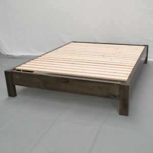 Image Is Loading Rustic Farmhouse Platform Bed Queen Wood Platform Reclaimed